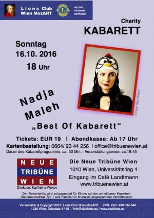 Best of Kabarett - Benefizveranstaltung mit Nadja Maleh
