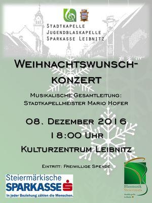 Weihnachtswunschkonzert der Stadtkapelle Leibnitz