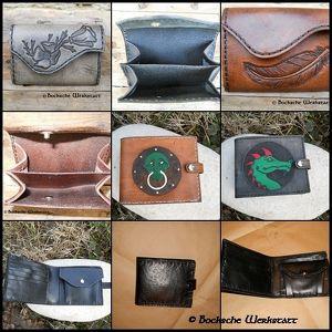 Kurs - Geldbörse aus Leder mit Punzierung