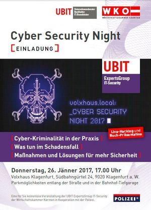 Cyber Security Night - WKO & UBIT