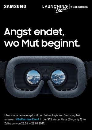 Jetzt ausprobieren: Virtual Reality App #BeFearless von Samsung in der SCS erleben und Ängste besiegen