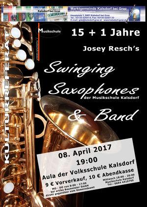 Jahreskonzert von Josey Resch´s Swinging Saxophones & Band
