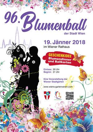 """96. Blumenball der Stadt Wien  Thema """"Farbenspiel"""""""