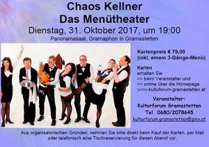 "Chaos Kellner ""Das Menütheater"""