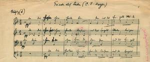 Facsimile-Präsentation: Arnold Schönberg: Friede auf Erden | Peace on Earth, op. 13