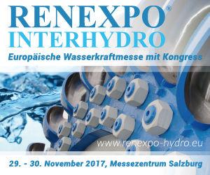 RENEXPO® INTERHYDRO 2017 - Europäische Wasserkraftmesse mit Kongress
