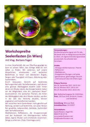 Seelenfasten Workshopreihe