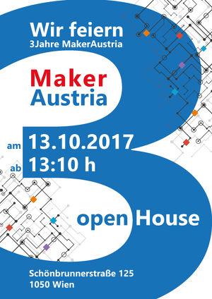 Drei Jahre offene Werkstätte Maker Austria – Open House