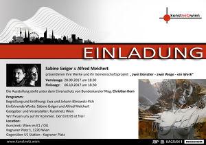 Vernissage der Ausstellung von Sabine Geiger und Alfred Melchert