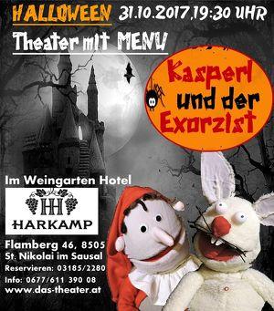 """Theater mit Halloween MENU für Erwachsene: """"Kasperl und der Exorzist"""""""