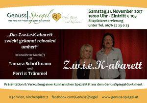 Z.w.i.e.K-abarett – im Kleinkunst-Café GenussSpiegel – Café, Kunst und Kulinarik