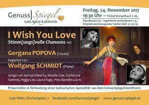 I Wish You Love – Stimm[ungs]volle Chansons im Kleinkunst-Café GenussSpiegel