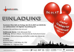 Galerie  KUNSTNETZ WIEN feiert 1-Jähriges JUBILÄUM!