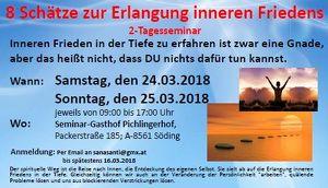 """2-Tagesseminar: """"8 Schätze zur Erlangung inneren Friedens""""."""