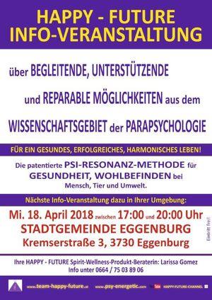 HAPPY - FUTURE INFO-VERANSTALTUNG in Eggenburg!
