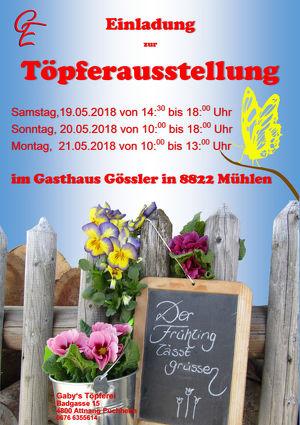 "Töpferausstellung ""Der Frühling lässt grüssen!"""
