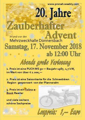 """20 Jahre """"ZAUBERHAFTER ADVENT"""" in Donnersbach"""