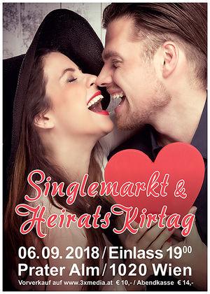 TRAU DI ANBANDELN bei Österreichs 1. Singlemarkt & Heiratskirtag in der Prater Alm