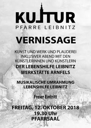 VERNISSAGE DER LEBENSHILFE LEIBNITZ