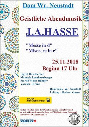 Geistliche Abendmusik-J.A.Hasse -Christkönigssonntag