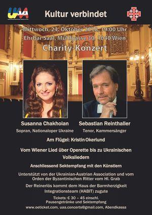 Charity-Konzert und Sektempfang Susanna Chakhoian & Sebastian Reinthaller