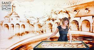 Die Geschichte Bad Nauheim's in Sand gemalt