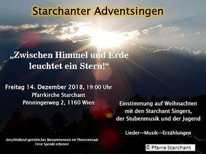 Adventkonzert der Starchant Singers