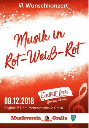 """47. Wunschkonzert Musikverein """"Pichler Bau"""" Gralla"""