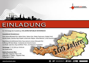 Ausstellung anlässlich 100 Jahre Republik Österreich