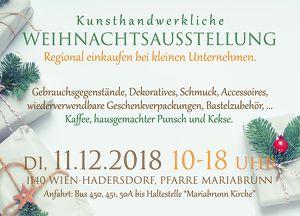 Kunsthandwerkliche Weihnachtsausstellung in Wien-Hadersdorf