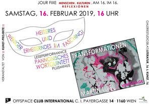 Verschiedene Facetten der Verwandlung in Literatur und Kunst!