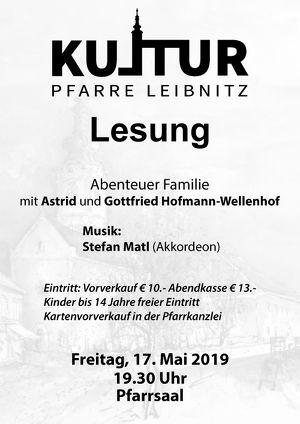 """Kultur Pfarre Leibnitz - Lesung """"Abenteuer Familie"""""""