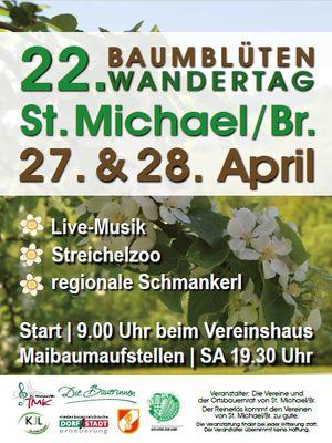 22. Baumblüten Wandertag, 27.& 28. April, St. Michael am Bruckbach