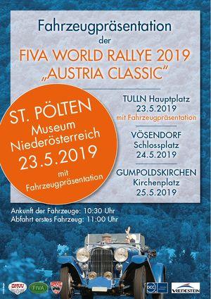 FIVA World Rally 2019 - Fahrzeugpräsentation in St. Pölten