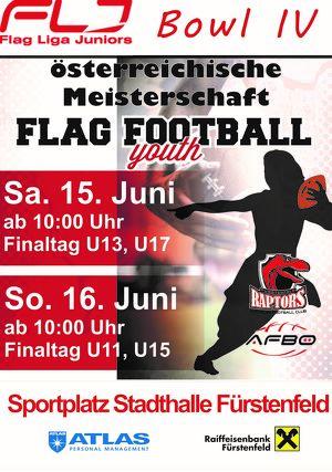 FLJ Bowl IV - österreichische Meisterschaft Flag Football U11 & U15