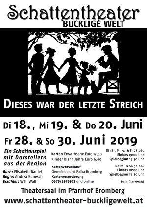 """Schattentheater Bucklige Welt - """"Dieses war der letzte Streich"""""""