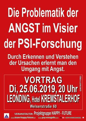 """Vortrag """"Die Problematik der ANGST im VISIER der PSI-FORSCHUNG"""""""