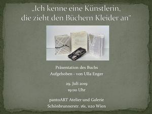 """Buchpräsentation """"Aufgehoben"""" von Ulla Enger"""