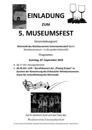 5. Museumsfest des Weinbauvereins Untermarkersdorf