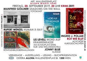 KRIMI.ZEIT! Buchpräsentation – Lesung – Musik – Vernissage – Ausstellung