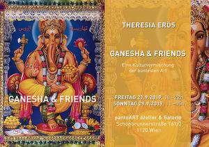 """Vernissage zur Ausstellung """"Ganesha & Friends"""" von Theresia Erös"""