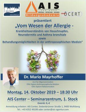 Vom Wesen der Allergie - Krankheitsverständnis von Heuschnupfen,  Neurodermitis und Asthma bronchiale sowie Behandlungsmöglichkeiten in der anthroposophischen Medizin