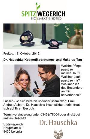 Dr. Hauschka Kosmetikberatungs- und Make-up-Tag.