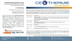 Geothermiesymposium 2019