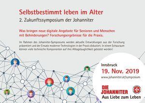 Selbstbestimmt leben im Alter  - Zukunftssymposium der Johannite