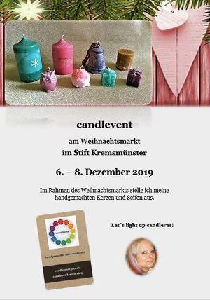 candlevent - handgemachte Kerzen am Weihnachtsmarkt in Kremsmünster