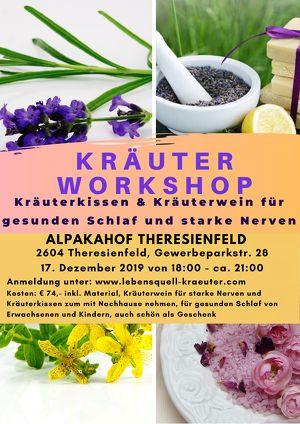 Weihnachtlicher Kräuterworkshop Kräuterkissen & Kräuterwein für gesunden Schlaf und starke Nerven