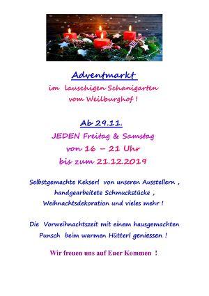 Adventmarkt im lauschigen Garten vom Weilburghof Baden