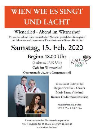 Wienerliedabend im Wittnerhof