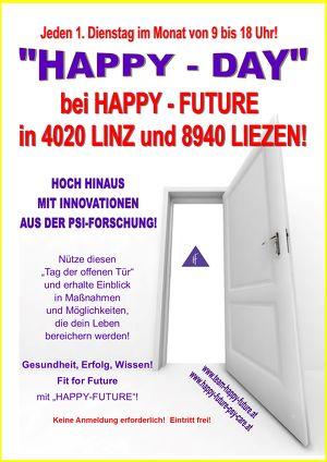 """""""HAPPY - DAY"""" bei """"HAPPY - FUTURE"""" in Linz und Liezen"""